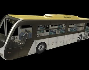 3D model game-ready Airport Bus
