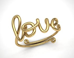 Love Twisted Ring twisted 3D print model