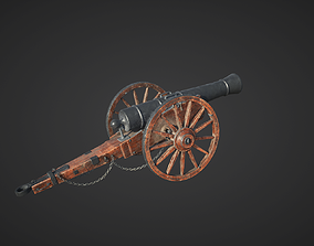 Medieval Cannon 3D model realtime