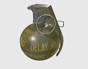 3D model Army M-67 frag grenade