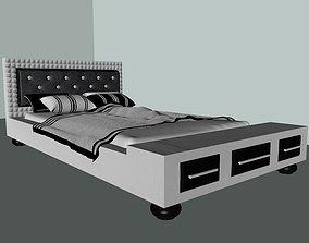 wooden bed 3D pillow