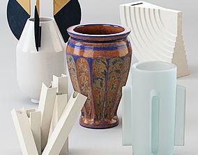 Vases set 3D model