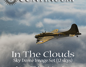 3D model In The Clouds 1 - sky dome pak