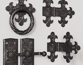 3D model Wrought iron door parts