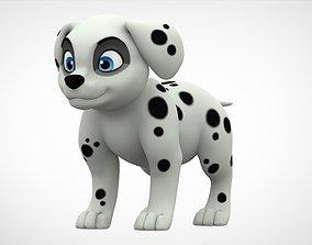 Dalmatian Puppy 3D model game-ready
