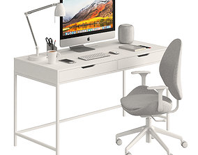 3D Ikea ALEX table and HATTEFJLL
