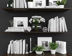 Decorative set 3D asset low-poly