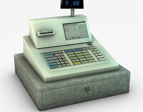 3D Cash register cash