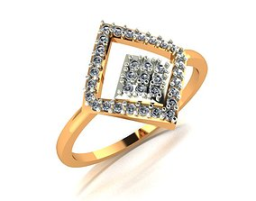 jewellery 3D printable model 001 Gold ring for woman