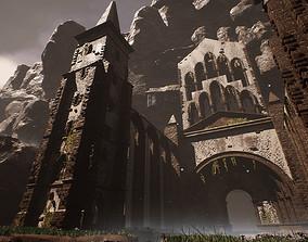 3D model Sharurs Lost Monastery Ruins Unreal Engine