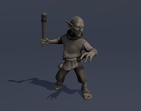 3D model Goblin animated game character