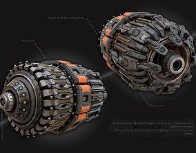 Sci-FI Cyberpunk piece 3D