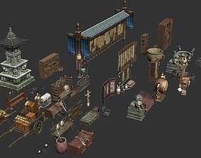 Ancient Chinese Scene Components 3D model