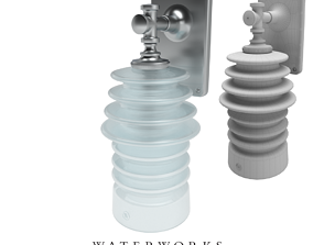 3D Sconce with Ribbed Glass Shade