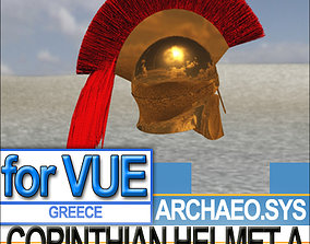 3D model Greek Corinthian Helmet A
