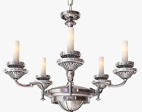 3D Remains Lighting Silverplate Chandelier