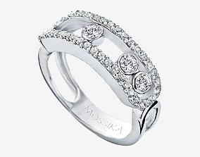 diamond rings messika move crimped -CG85 3D print model