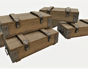 Ammunition Wood Crates 02 - PBR 3D model