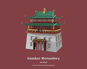 3D Gandan Monastery - Mongolia