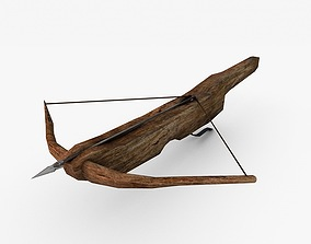 Low poly crossbow 3D asset
