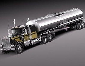 1976 Kenworth W900 Tanker Truck 1974 3D