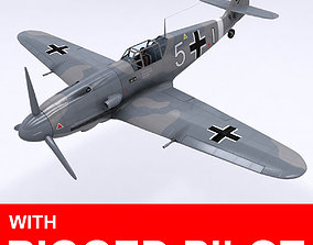 Messerschmitt BF109 F1 3D model animated