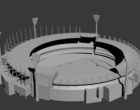 Melbourne cricket Football ground Australia 3D model
