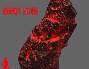 3D model VR / AR ready Glowing Rock