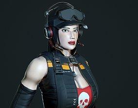 Esther - Mercenary Girl 3D model rigged