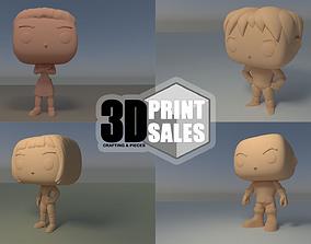 4x3 Promo Pack 4 - Custom Pop 3D Printable Models DIY