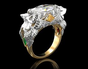 Ring PROVIDENCE 3D print model brilliant