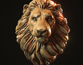 Lion Head Pendant 3d print model head