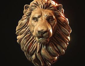 Lion Head Pendant 3d print model ring