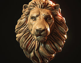 Lion Head Pendant 3d print model design