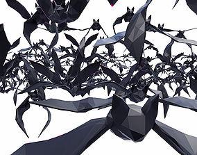 3D Bat Poses Flying 11 models Low Poly