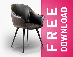 Black Leather Chair 3D model game-ready