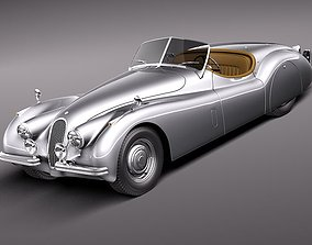 Jaguar XK120 Roadster 1948 1954 3D Model