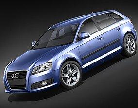 3D model Audi A3 2009 Sportback