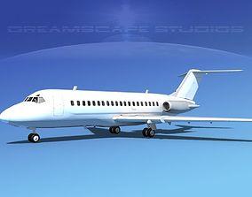 3D model Douglas DC-9-20 Unmarked 1