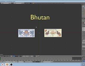Paper-money of Bhutan 3D
