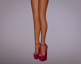 3D Sandal Woman High Heels footwear