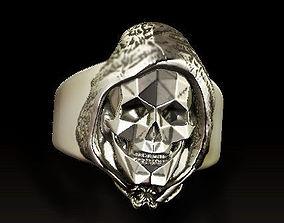 3D printable model Grim Reaper skull ring