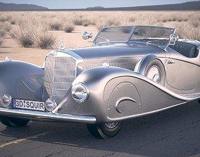 3D Mercedes 500K Erdmann Rossi 1936 desert studio