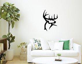 3D print model Deer head wall art