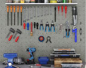 nut garage tools set 1 3D model