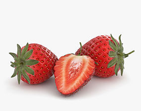 Strawberry 3D model food