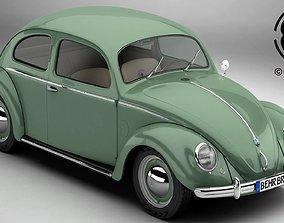 3D model Volkswagen Beetle 1951 Deluxe