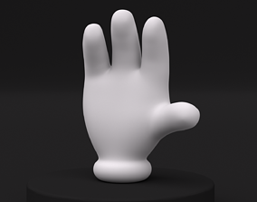 Cartoon Hand Low-poly Rig-Pose 3D asset