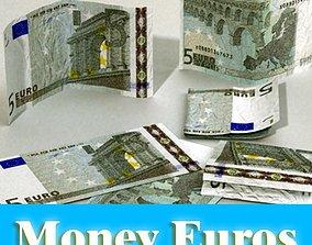 3D 5 Euro Paper Money