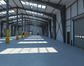 Warehouse 8 interior and exterior 3D model